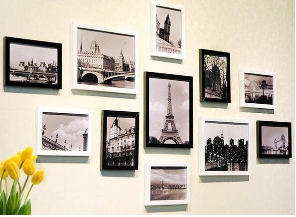 相框墙的设计和摆放,相框墙上摆设图片大全,相框墙怎么安装图片